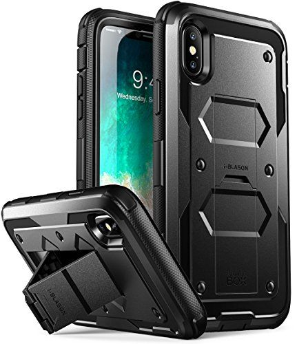 iPhone X Case, [Armorbox V2.0] i-Blason [Built in Tempered Glass Screen Protector][Full body] [Heavy Duty Protection] [Kickstand] Shock Reduction Case for Apple iPhone X / iPhone 10 (2017)  https://topcellulardeals.com/product/iphone-x-case-armorbox-v2-0-i-blason-built-in-tempered-glass-screen-protectorfull-body-heavy-duty-protection-kickstand-shock-reduction-case-for-apple-iphone-x-iphone-10-2017/  Designed Specifically for Apple iPhone X; NOT compatible with standard iPhone