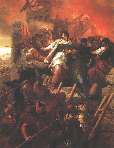Székely Bertalan - EGRI NŐK olajfestmény (1867.) Dobó Katica és az egri várat védők kis csoportja harcol a török támadók ellen.
