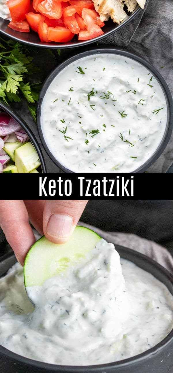 This Easy Recipe For Tzatziki Sauce Is A Keto Version Made With Sour Cream Instead Of G Tzatziki Recipes Tzatziki Sauce Recipe Greek Yogurt Tzatziki Sauce Easy