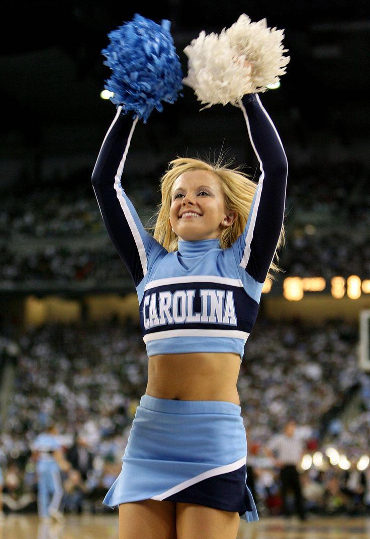 North Carolina Tar Heels cheerleader