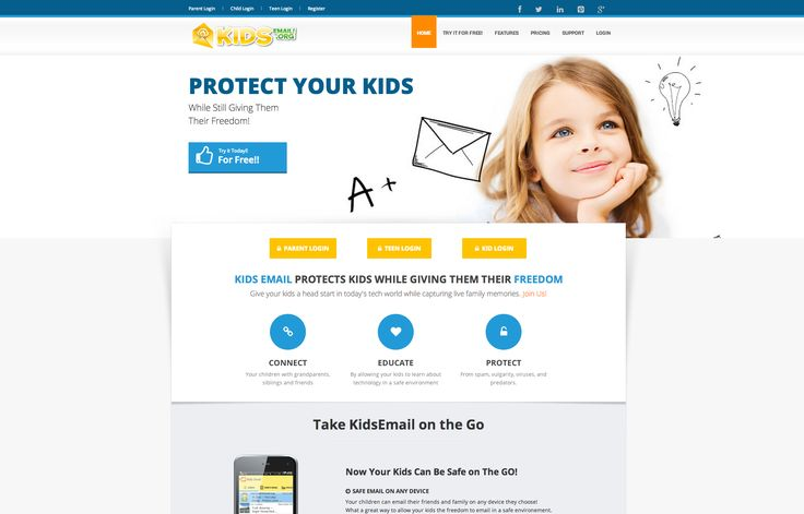 Kids Email provides a safe e-mail service for your family. No ads, or spam and have the ability to choose who contacts your child and who your child contacts. It's a clean and safe e-mail that kids love and parents can have peace of mind they aren't getting anything inappropriate.    Kids Email can be used on the web, or app. There is no extra charge to use the app.