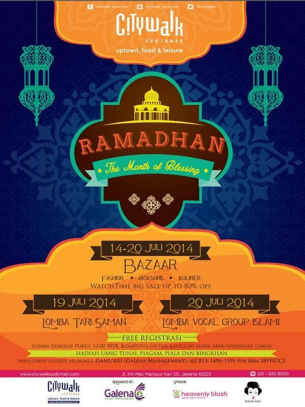 Ramadhan The Month of Blessing, 14 - 20 JulY 2014 at Citywalk Sudirman