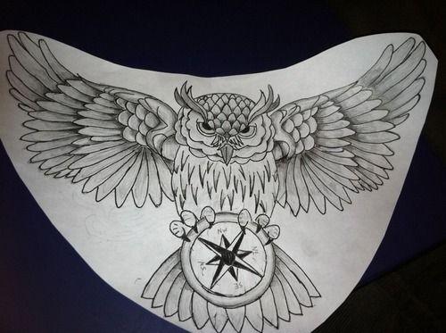 Owl Chest Piece