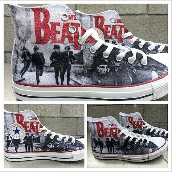 The Beatles Custom Converse All Stars by ArkhamPrints on Etsy, $85.00