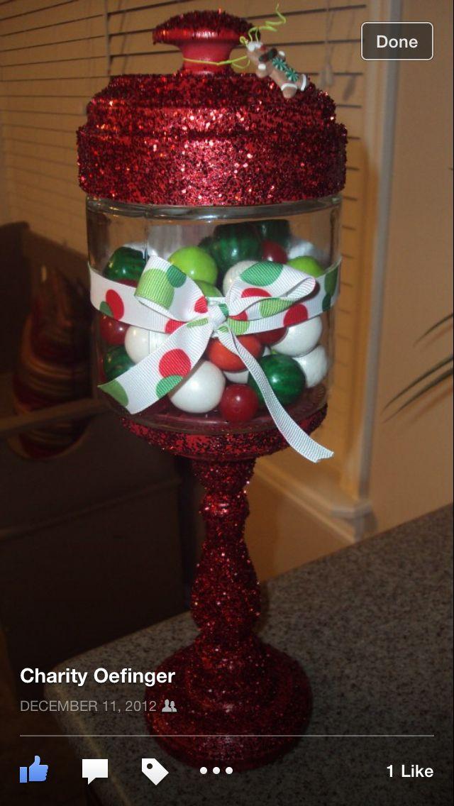 Christmas candy jar decor