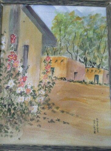 Hollyhocks ~Arlene Foster watercolor
