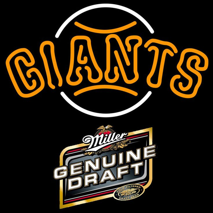 Genuine Draft San Francisco Giants MLB Neon Sign 3 0010, Miller MGD with MLB Neon Signs | Beer with Sports Signs. Makes a great gift. High impact, eye catching, real glass tube neon sign. In stock. Ships in 5 days or less. Brand New Indoor Neon Sign. Neon Tube thickness is 9MM. All Neon Signs have 1 year warranty and 0% breakage guarantee.