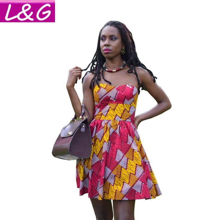 Sexy Off the Shoulder Backless African Print Women Summer Dress