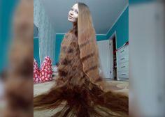 El pelo largo (larguísimo) de esta rusa está de impacto