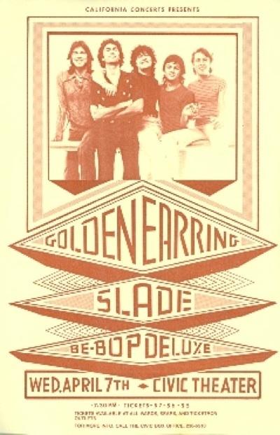 Golden Hearring, Slade, Be-Bop Deluxe