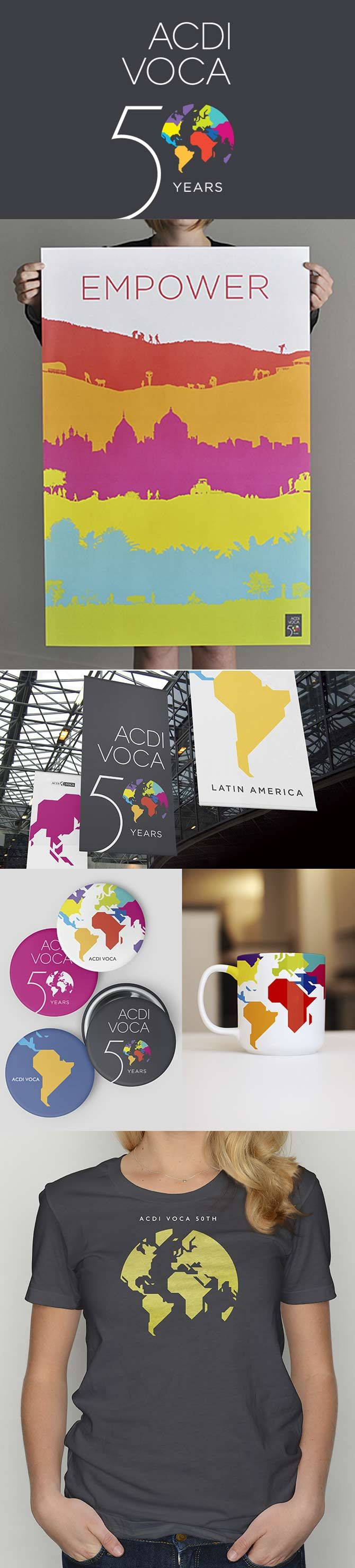 ACDI VOCA 50th Anniversary branding by Levine DC Interesting organisation to look into
