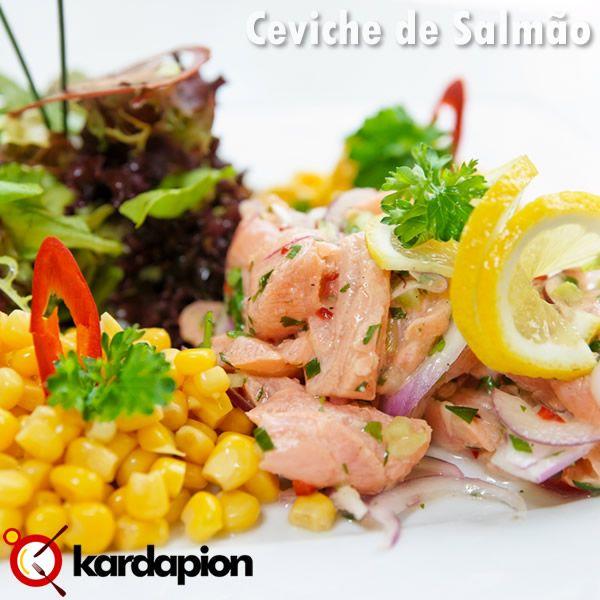 Sugestão, Ceviche de Salmão www.kardapion.com/comer-ceviche-de-salmao #comer #cevicheDeSalmao