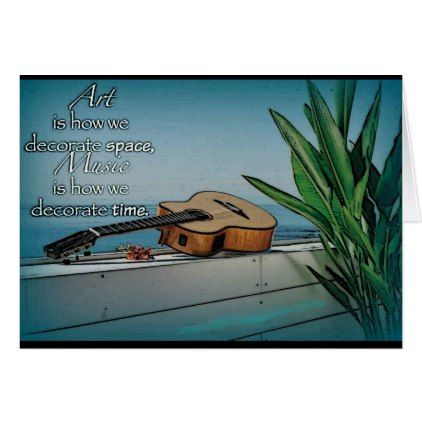 Encouragement Inspiration Art Music Greeting Card - ocean side nature waves freedom design