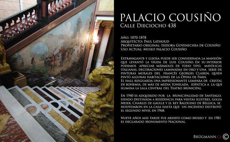 Palacio Cousiño  Calle Dieciocho 438, Santiago de Chile.