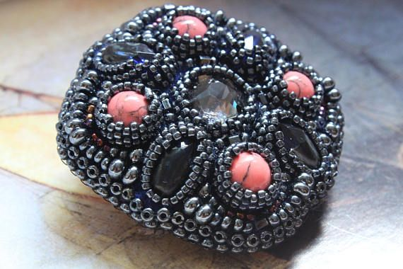 Check out this item in my Etsy shop https://www.etsy.com/listing/540733419/brooches-and-pins-brooch-beaded-brooch