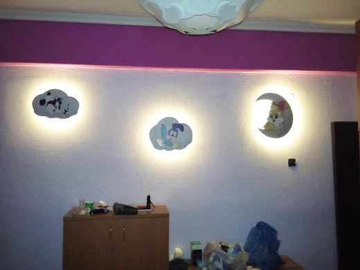 Baby room wall lights