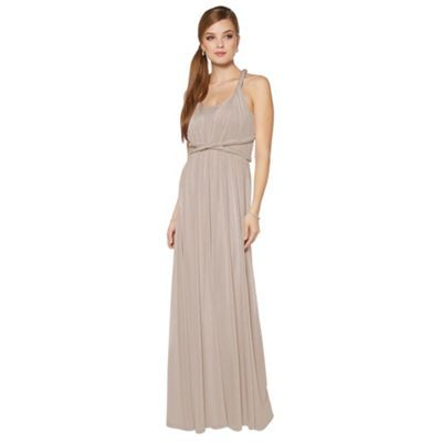 Debut Pale pink pleated multiway maxi dress- at Debenhams.com