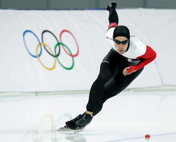 JO Sotchi - Février 2014 : Denny Morrison patinant jusqu'à la médaille d'argent au 1000m en patinage de vitesse longue piste chez les homme (Photo Presse Canadienne)