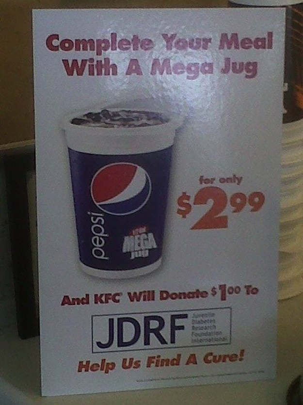 drink a megajug for diabetes!