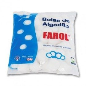 Algodão Hidrófilo 100g em bola - Farol BioClassi