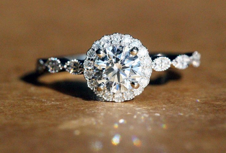 Unique Vintage Inspired Halo Engagement Ring!!!