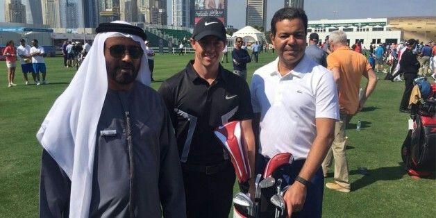 SAR le Prince My Rachid a Dubai pour in tournoi de Golf ....2016