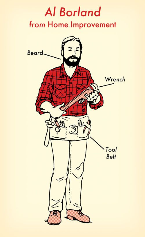 29 best the art of manliness images on pinterest art of al borland home improvement halloween costume red flannel shirt illustration ccuart Images