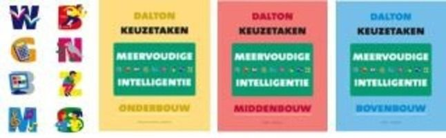 Dalton keuzetaken. Meervoudige intelligentie: onderbouw, middenbouw, bovenbouw. Plaats: 453.3 ROHN.