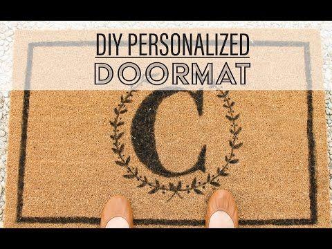 DIY Personalized Doormat / Tapete personalizado - Avanti Morocha