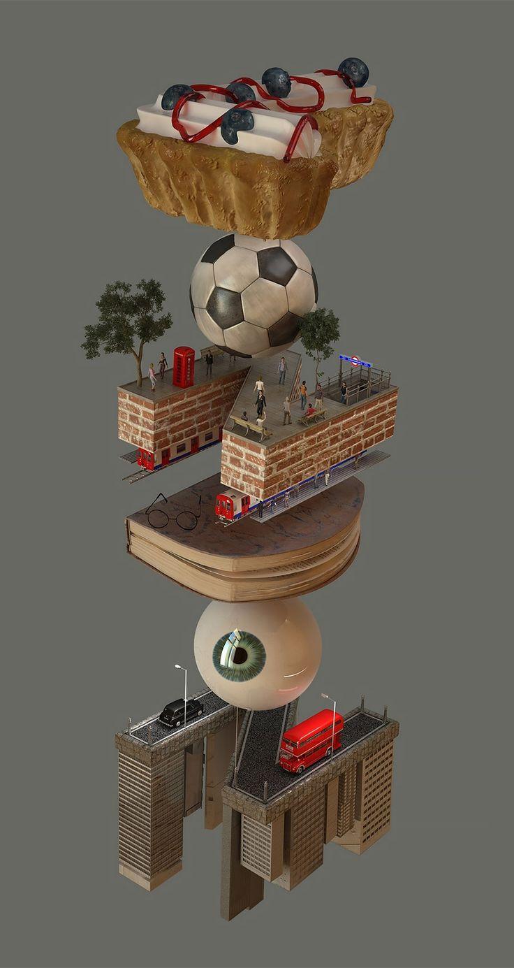 Great series of 3D illustrations by Jenue, an independent designer based in London. More digital artworks via Behance