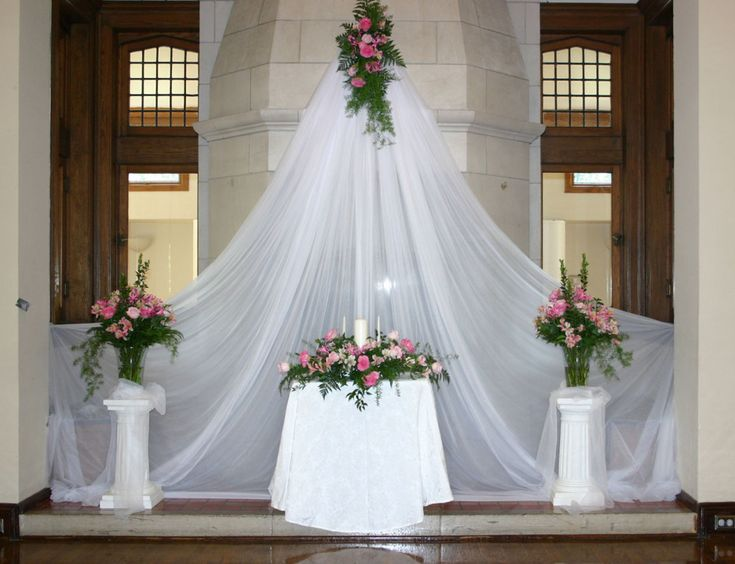 Church altar for wedding