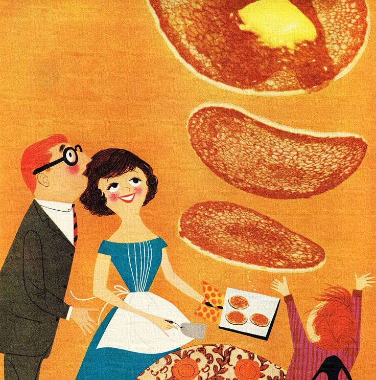 Making the pancakes Auf rogerwilkerson.tumblr.com http://www.pinterest.com/lizvettepr/vintage-illustrations/