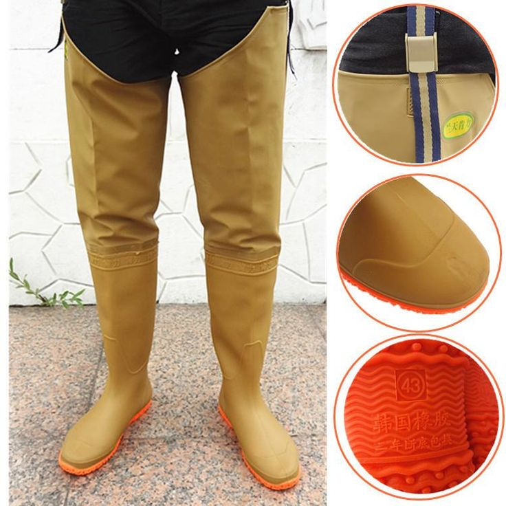 Men and women fishing wader neoprene fishing boots fly fishing breathable wader fishing pants waterproof shoes