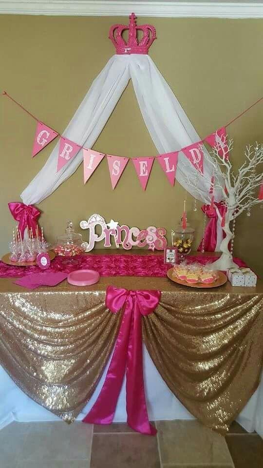 35 Best Hot Pink Gold Princess Babyshower Images On -6008