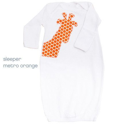 Binksy & Bobo Infant Sleepers and Bodysuits. Available in cool looking gender neutral prints - makes buying a gift for a newborn a breeze. $35
