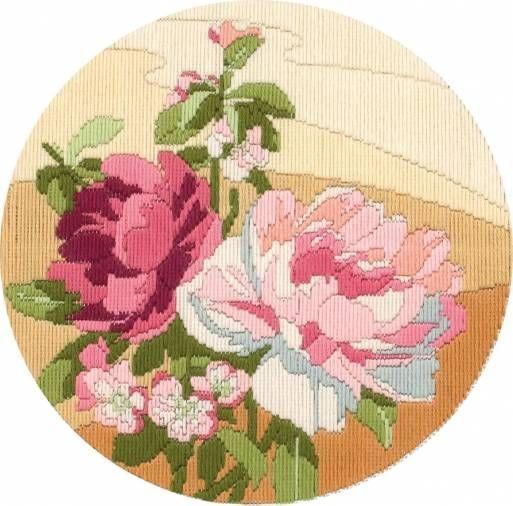 Peony Long Stitch Kit £24.50 | Past Impressions | Anchor