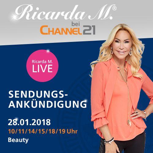 Den ganzen Sonntag für Euch auf Sendung mit den tollsten Beautyprodukten! Herzlichst, Eure Ricarda M.