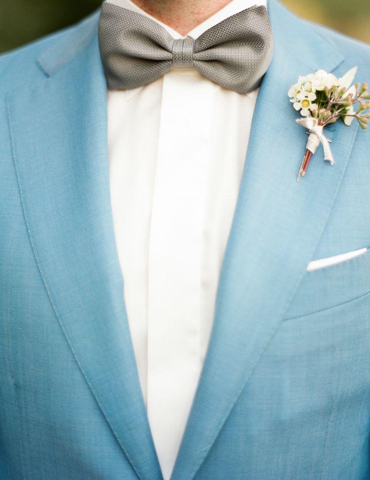 light blue groom's suit