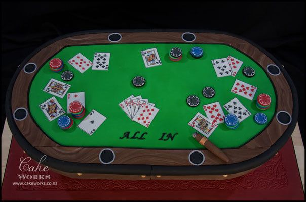 Poker Table Cake                                                       …