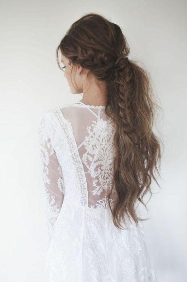 Coiffure cheveux longs belle