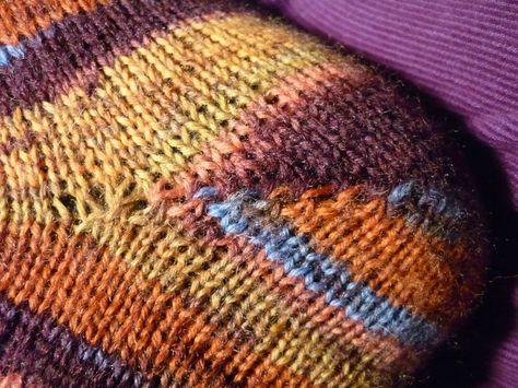 Tricoter les talons de chaussettes