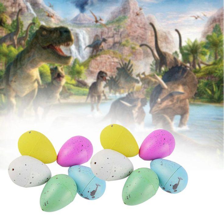 10x Штриховка Яйца Динозавров Выращивание Дино Яйца Добавить Воды Магия Надувные Игрушки A676