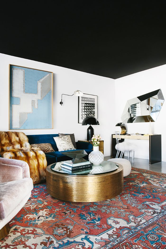 Tour the latest project from Black Lacquer Design—a young artist's bold West Hollywood condo that mixes colorful wallpaper and statement lighting.