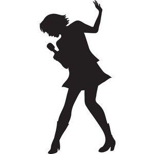Diva Girl Silhouette Clip Art | Singer Clipart Image - The Silhouette Of A Female Singer