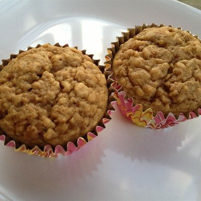 Apple Banana Muffins - These muffins taste delicious warm, cut in half, with some almond butter slathered on each side! #glutenfree