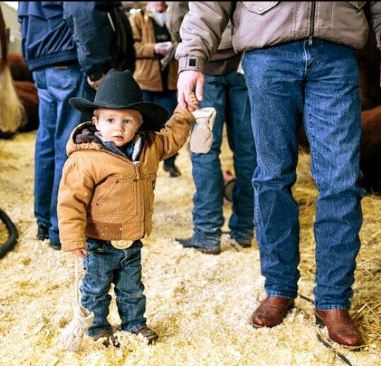 Lil Cowboy With his Dad. #Country Boy #Country Life