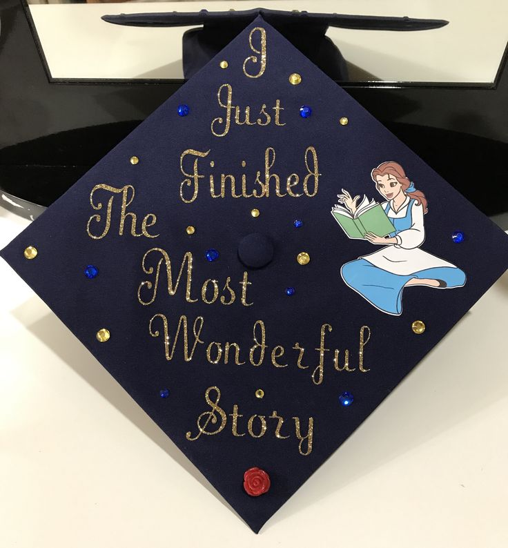 Beautiful and the Beast Belle graduation cap!