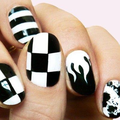 Black & White Nail Art <3