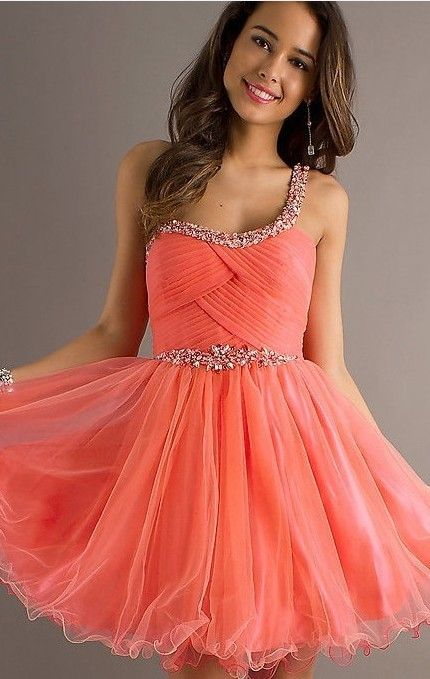 17 Best Ideas About Peach Homecoming Dresses On Pinterest