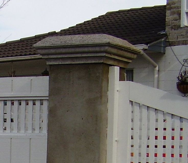 How to make a concrete post cap